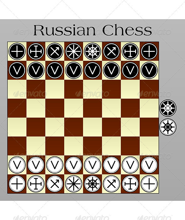 Russian Chess - Miscellaneous Vectors
