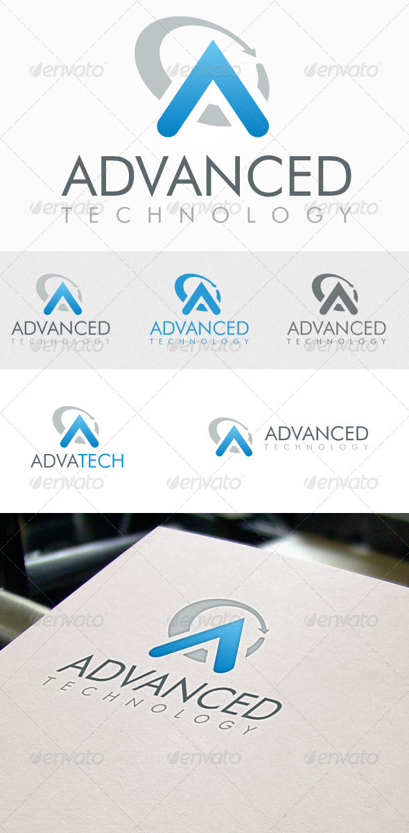 Advanced Technology Logo - Letters Logo Templates