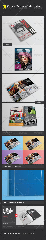 Magazine/ Brochure/ Catalog mockups - Magazines Print