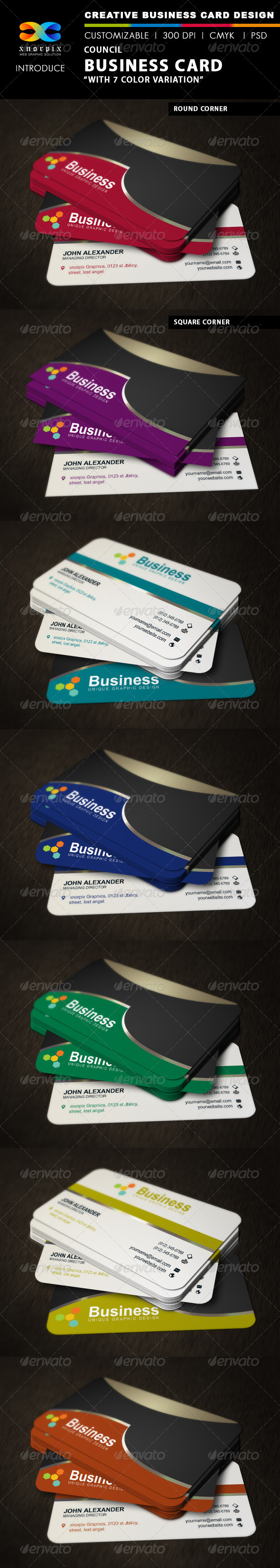 Council Business Card - Corporate Business Cards