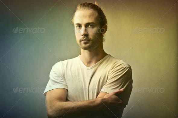 Blonde Man - Stock Photo - Images