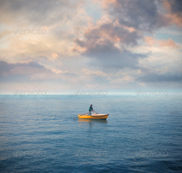 Solitary Boat - Stock Photo - Images
