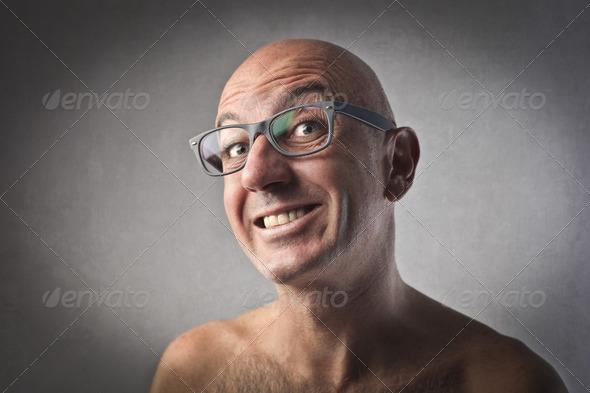 Shirtless Smile - Stock Photo - Images