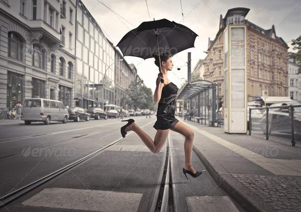 Contemporary Rain - Stock Photo - Images
