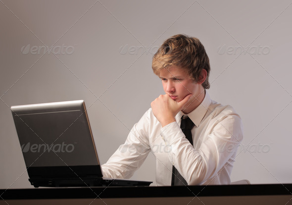 Computer Doubt - Stock Photo - Images