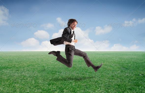 Businessman Run - Stock Photo - Images