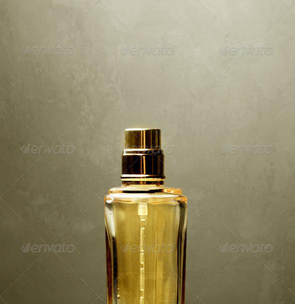 Golden Parfume - Stock Photo - Images