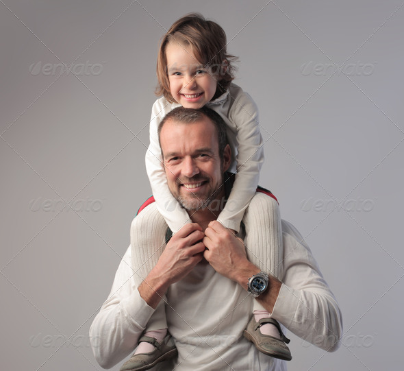 Baby and Dad - Stock Photo - Images