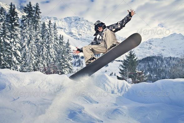 Extreme Snowboard - Stock Photo - Images