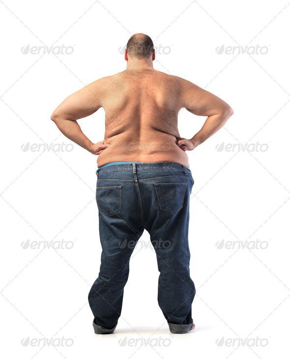 толстяк и член