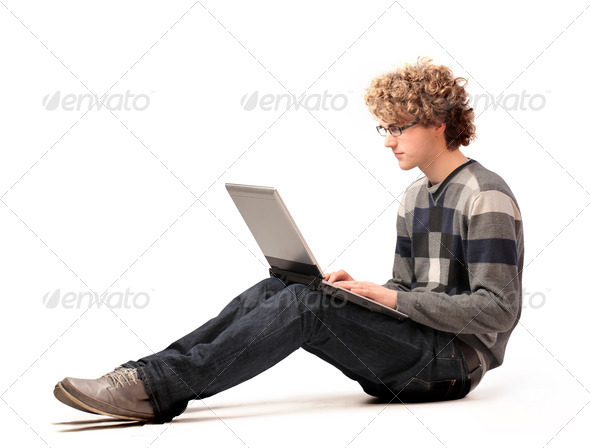 Nerd Laptop - Stock Photo - Images