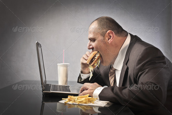 Fat Businessman - Stock Photo - Images