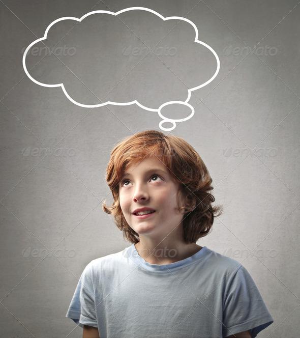 Thinking Child - Stock Photo - Images
