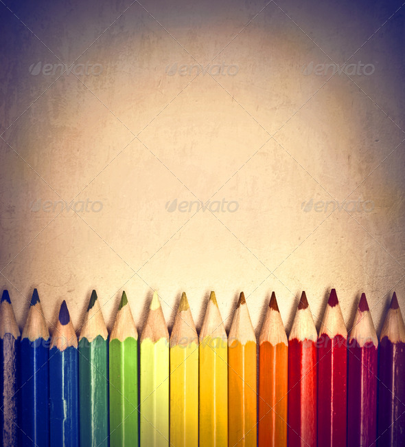 Many Colored Pencils - Stock Photo - Images