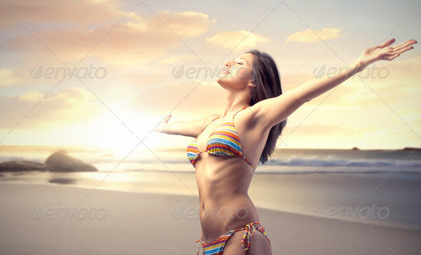 Enjoy the Sea - Stock Photo - Images