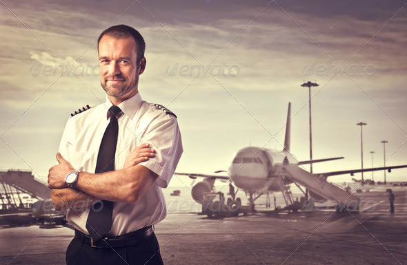 Airline Pilot - Stock Photo - Images