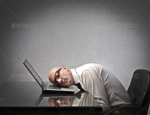 Sleeping Business - Stock Photo - Images