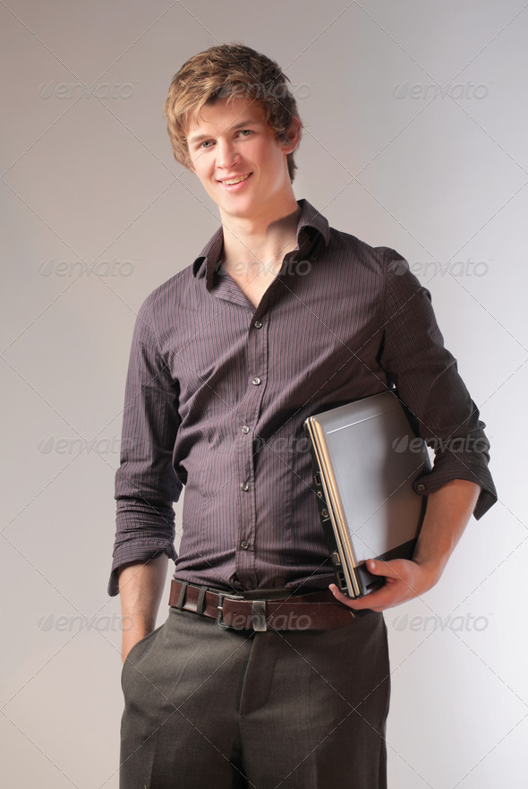 Smiling Blonde Guy - Stock Photo - Images