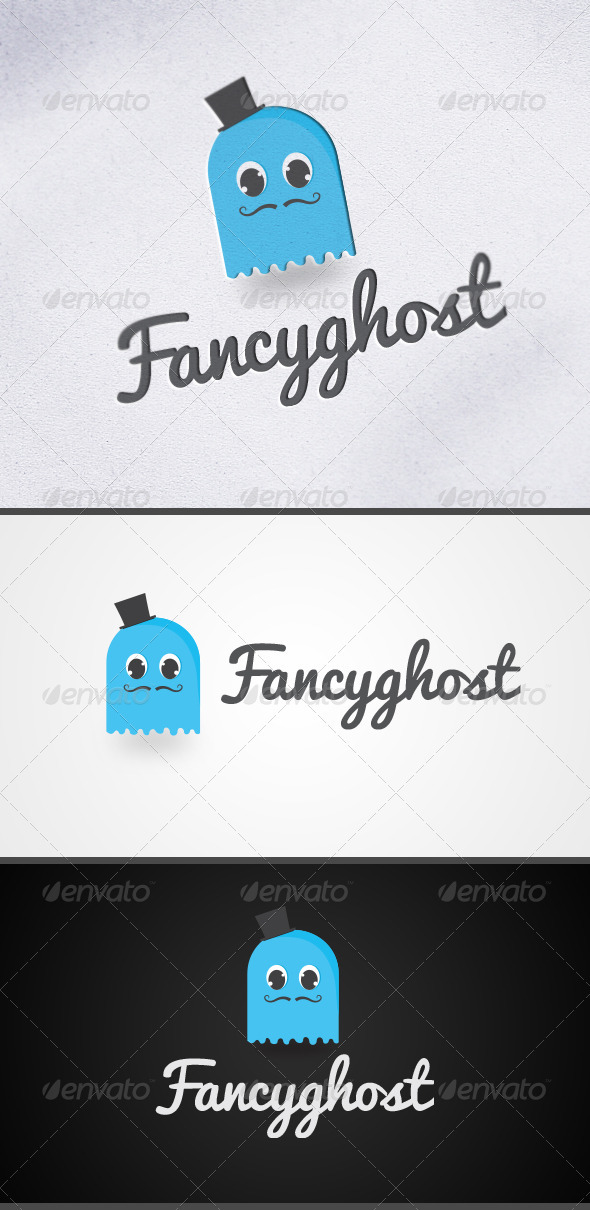 Fancy Ghost Logo - Animals Logo Templates
