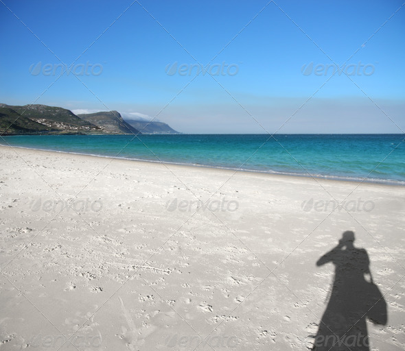 Shade on the Beach - Stock Photo - Images