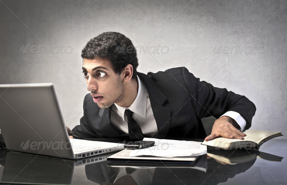 Astonished Businessman - Stock Photo - Images