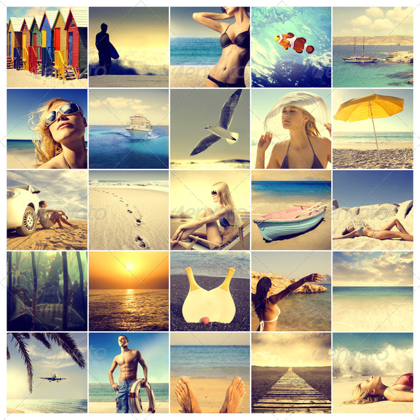 Sea Compilation - Stock Photo - Images