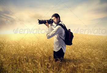 Photographer in the Nature