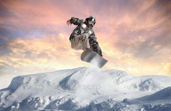 Trick on the Mountain - Stock Photo - Images