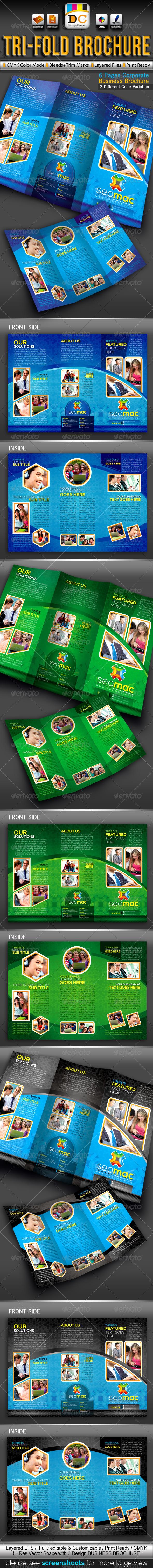 SeoMac Tri-fold Corporate Business Brochure - Corporate Brochures