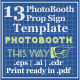 13 Sign Template For Photo Booth Props - GraphicRiver Item for Sale