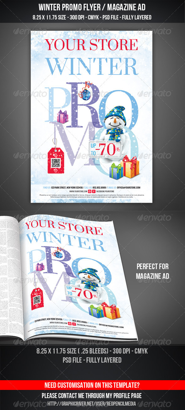 Winter Promotional Flyer / Magazine AD - Commerce Flyers