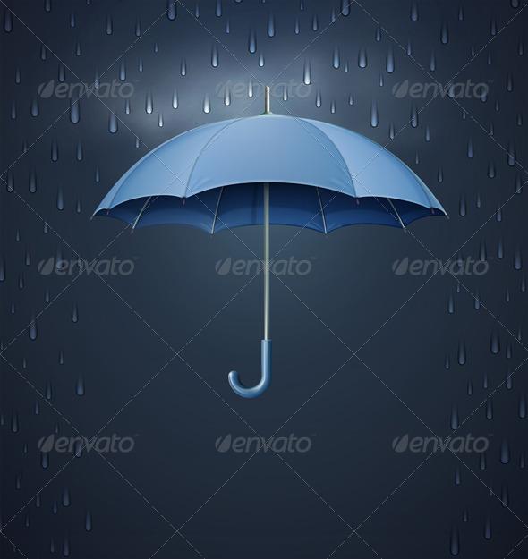 Opened umbrella  - Seasons/Holidays Conceptual