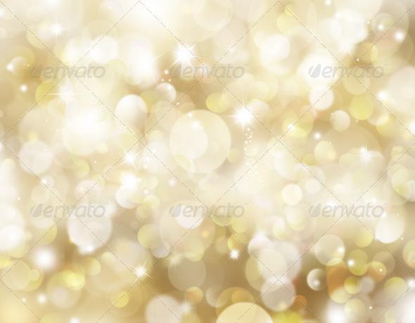 Gold Christmas background - Stock Photo - Images