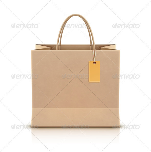 Paper shopping bag - Objects Vectors