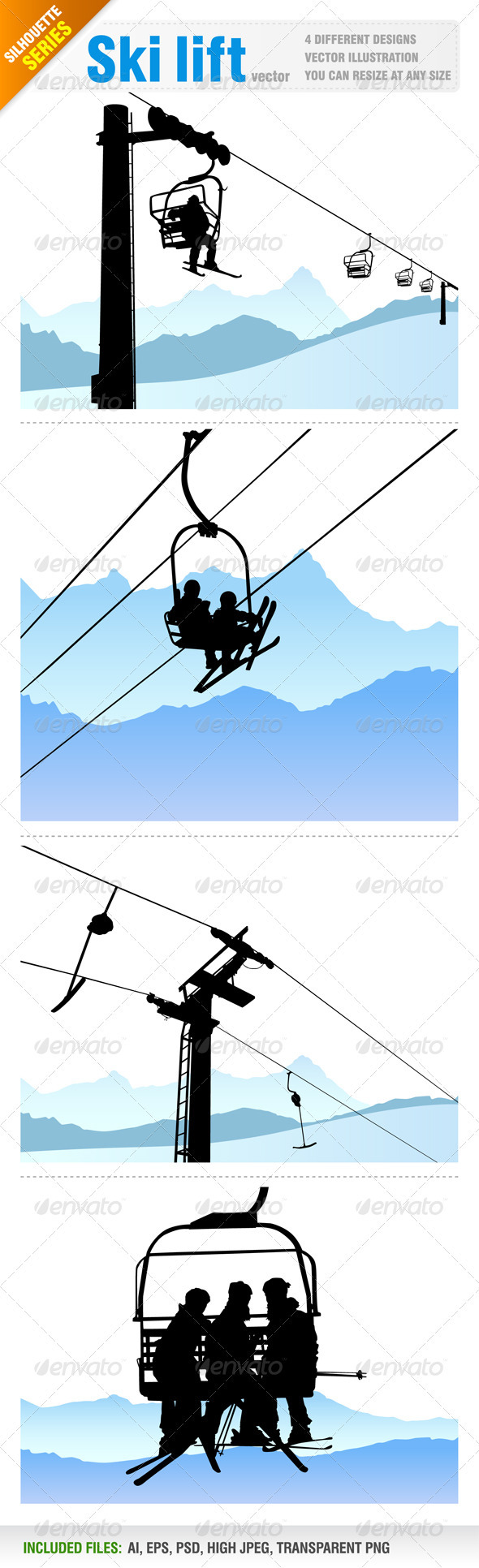 4 Ski lift designs - Travel Conceptual