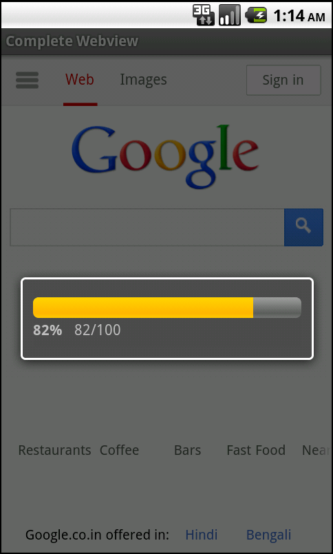 One Minute Android WebView