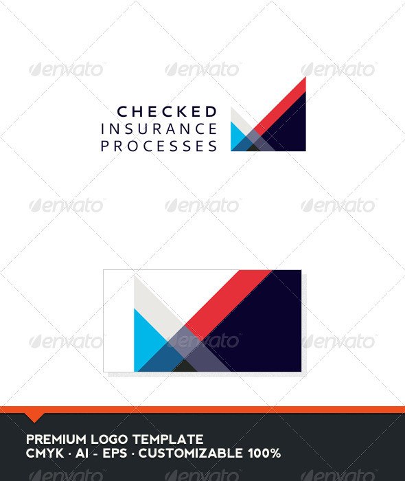 Abstract and Check Logo Template - Abstract Logo Templates
