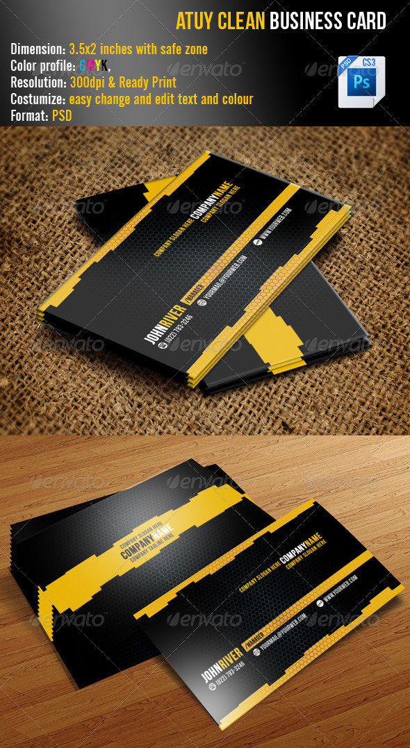 Atuy Clean Business Card - Creative Business Cards