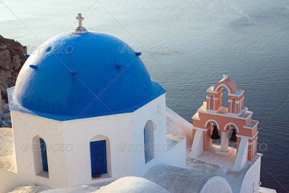Church on Santorini island - Stock Photo - Images