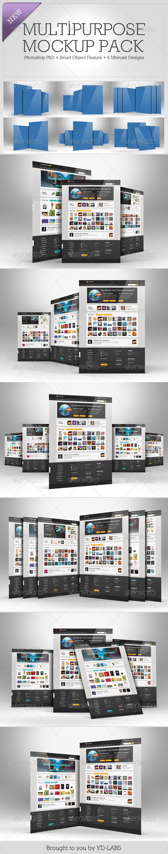 Multipurpose Mockup Pack 2 - Miscellaneous Displays
