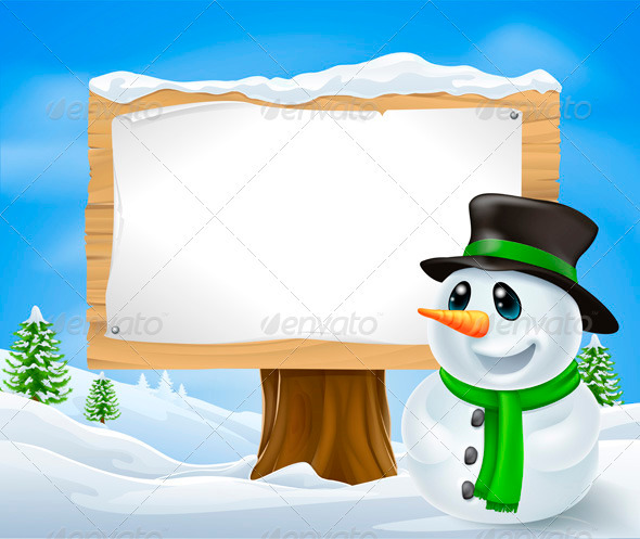 Christmas Snowman Sign - Christmas Seasons/Holidays