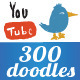 300 Doodle Items Set  - GraphicRiver Item for Sale