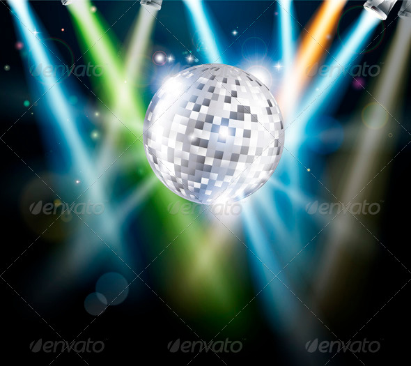 Disco mirror ball background - Objects Vectors