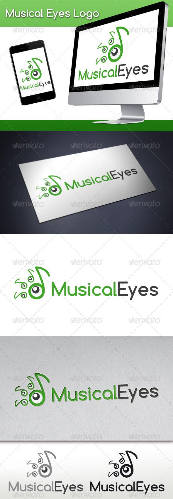Musical Eyes Logo - Symbols Logo Templates