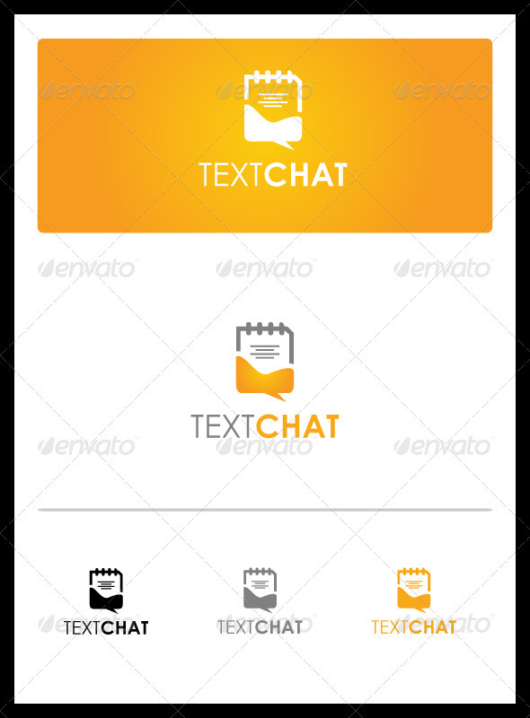 Text Chat - Objects Logo Templates