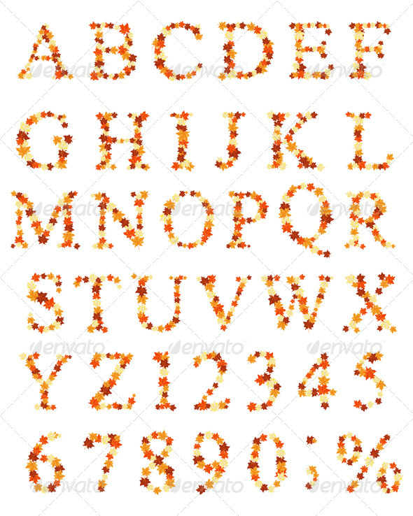 Maple Alphabet - Seasons Nature