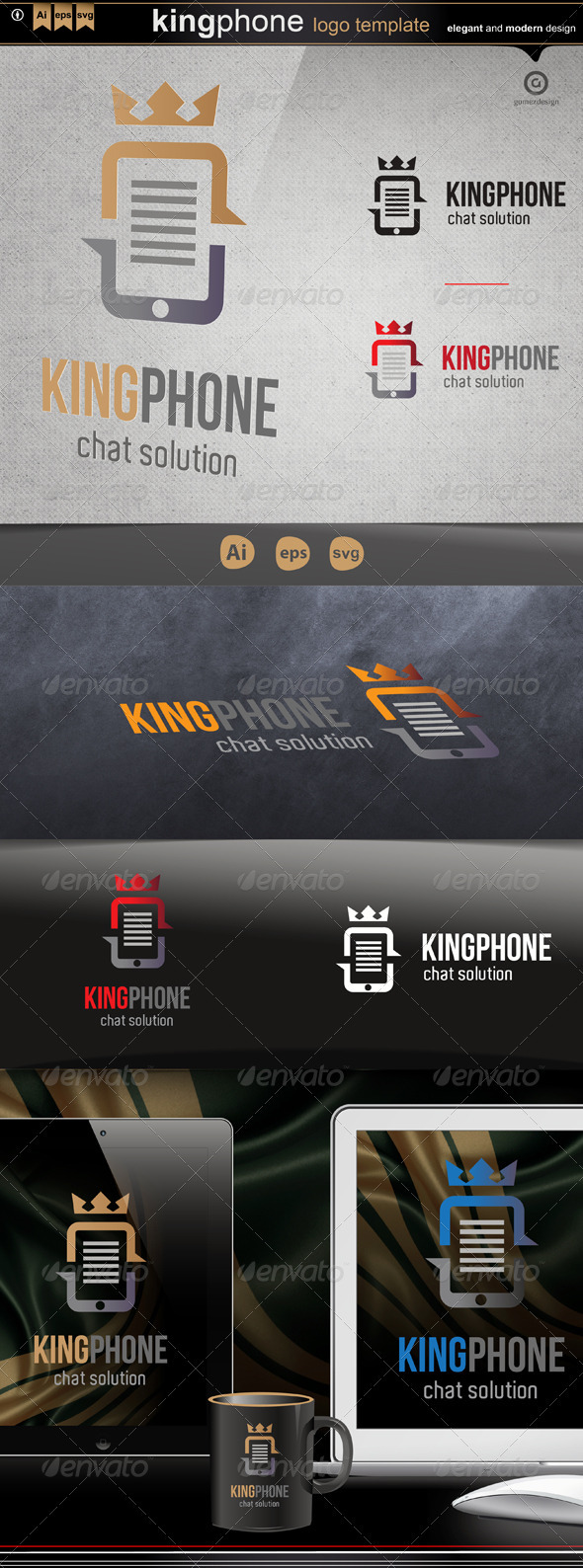 King phone - Logo Templates