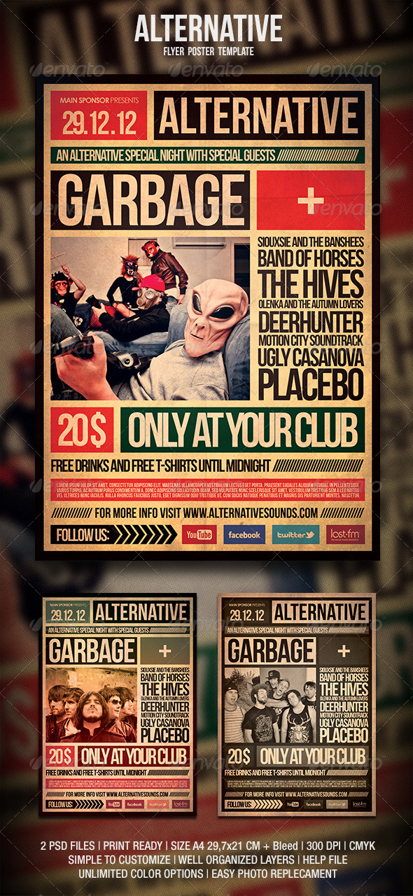 Alternative Flyer / Poster - Events Flyers