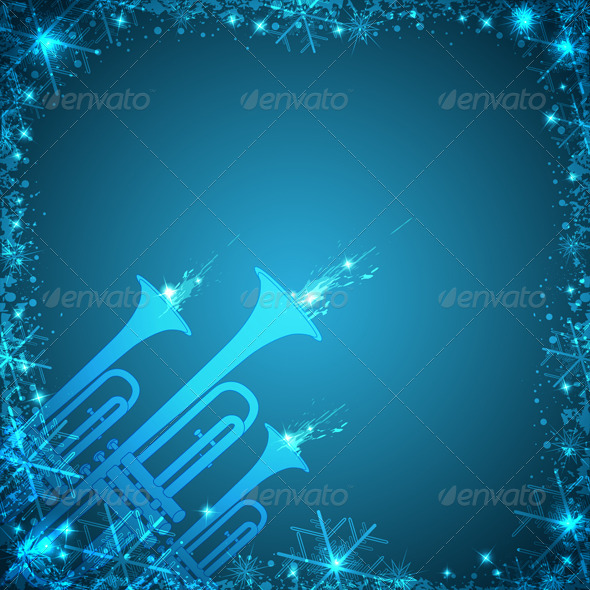 Blue Christmas Card - Christmas Seasons/Holidays