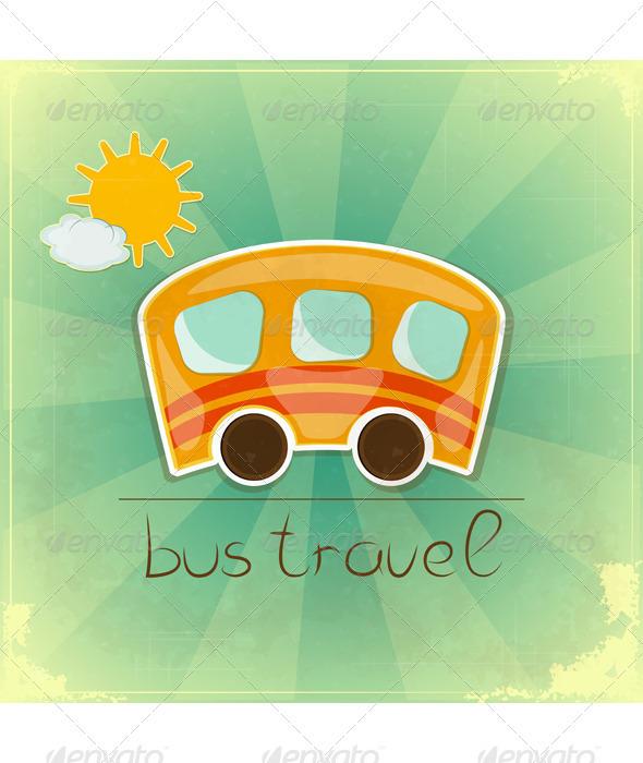 Fun bus travel card - Travel Conceptual